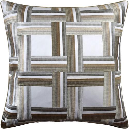 "Ryan Studio 22"" x 22"" Front Row Decorative Pillow, Greige"