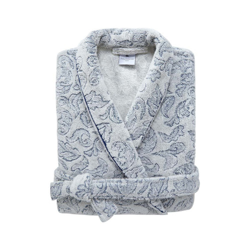 Yves Delorme Caliopee Shawl Collar Bathrobe