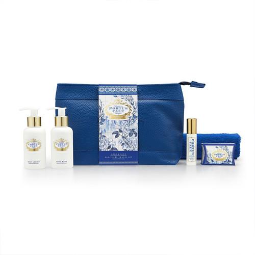 Portus Cale Gold & Blue Travel Set