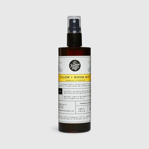 The Handmade Soap Company Lemongrass & Cedarwood Room + Pillow Mist