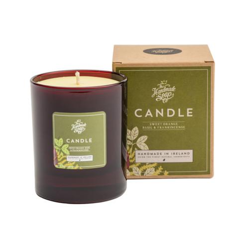 The Handmade Soap Company Sweet Orange, Basil & Frankincense Candle