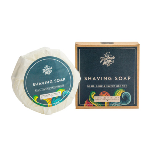 The Handmade Soap Company Basil, Lime & Sweet Orange Shaving Puck