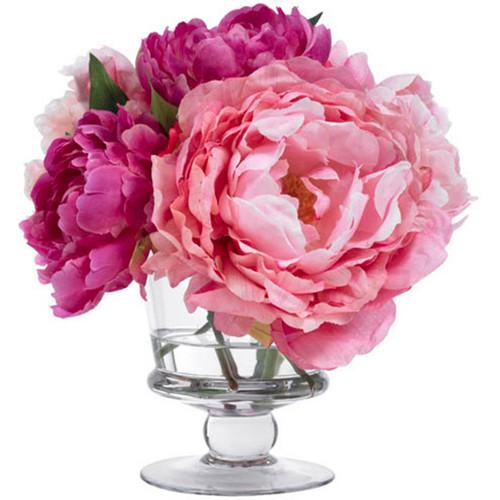 Diane James Blooms Pink Peonies In Footed Vase