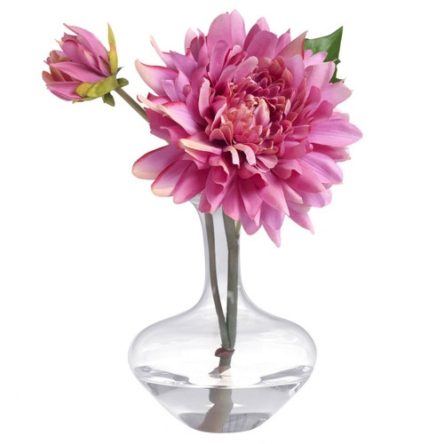 Diane James Pink Dahlia In Bud Vase