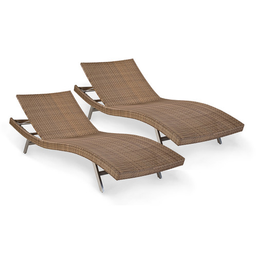 Palms PAIR Wave Lounger Chaises