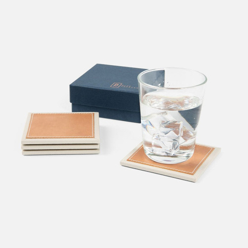 Blue Pheasant Graham Square Coasters Boxed - Set of 4