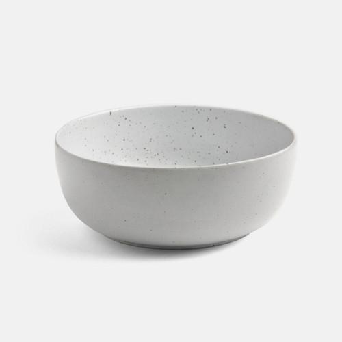 Blue Pheasant Marcus White Salt Glaze Deep Serving Bowl