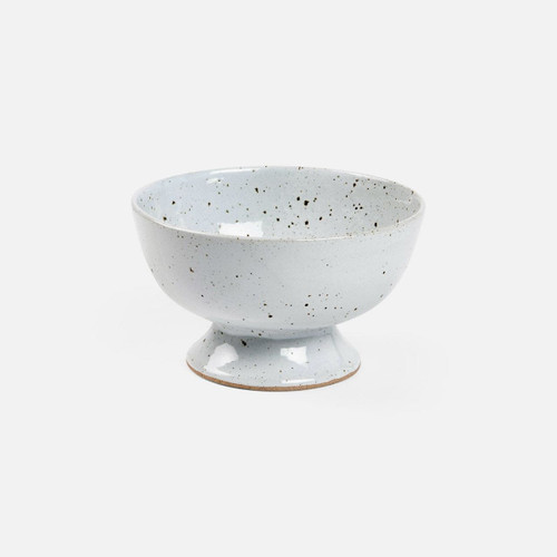 Blue Pheasant Wilson White Salt Glaze Footed Serving Bowl - Pack of 2