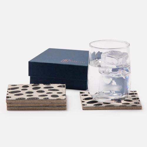 Blue Pheasant Harper Dalmatian Print Square Coasters Boxed - Set of 4