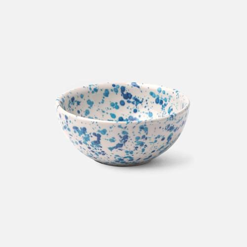 Blue Pheasant Sconset Mixed Blue Spongeware Cereal/Ice Cream Bowl - Pack of 4