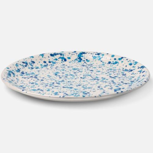 Blue Pheasant Sconset Mixed Blue Spongeware Dinner Plate - Pack of 4