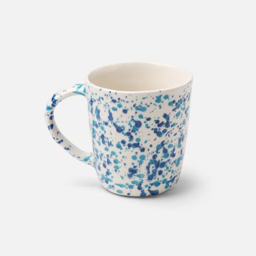 Blue Pheasant Sconset Mixed Blue Spongeware Mug - Pack of 4