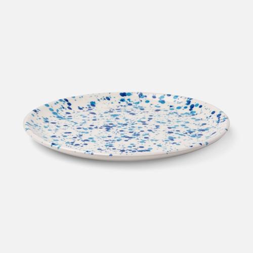 Blue Pheasant Sconset Mixed Blue Spongeware Salad/Dessert Plate - Pack of 4