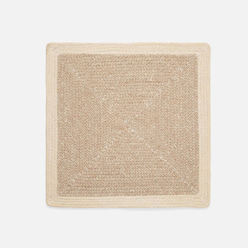 Blue Pheasant Shia Square Placemat - Dark Jute/Cotton Mix - Set of 4