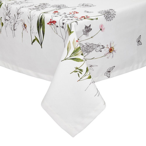 Mode Living Lille White Floral Tablecloth