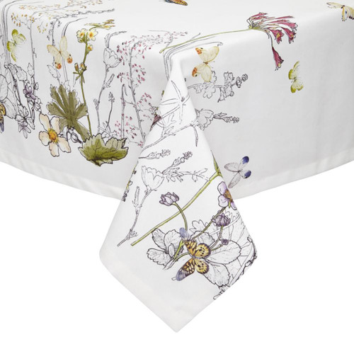Mode Living Provence White Floral Tablecloth