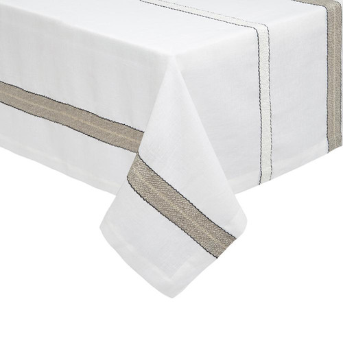 Mode Living Puglia Beige and White Tablecloth