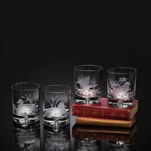 Julie Wear Designs American Ducks Wood Duck Old Fashion Assorted Glass