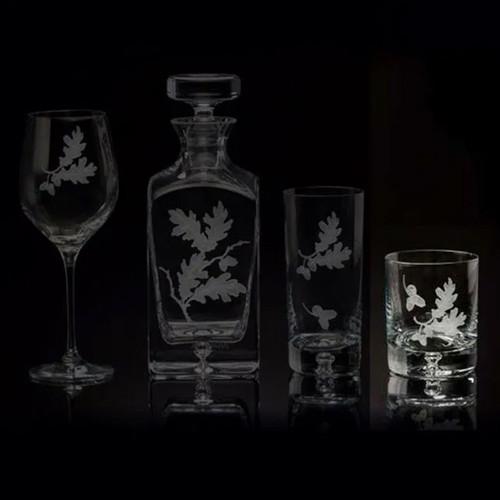 Julie Wear Designs Oak Leaf Old Fashion Glass