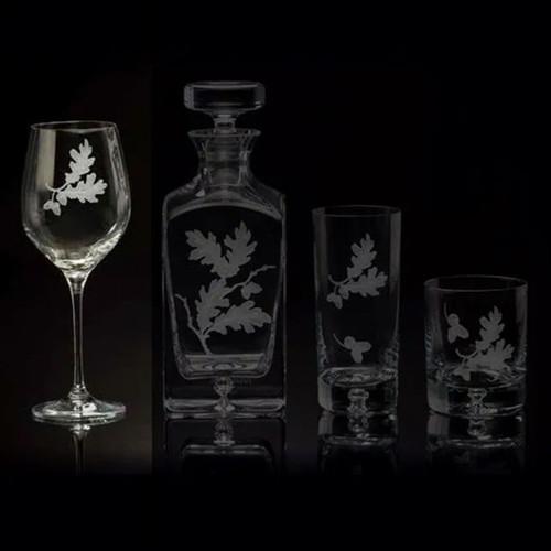 Julie Wear Designs Oak Leaf Wine Glass