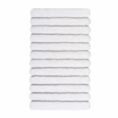 Graccioza Bath Linens Petra Bath Rug - White