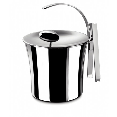 Casa Bugatti USA Acqua Thermal Stainless Steel Ice Bucket with Lid and Tongs