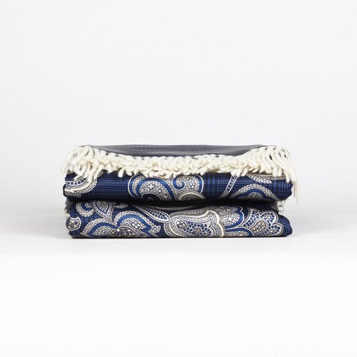Marzotto Lab Diamante Coupled Throw Silk And Cashmere