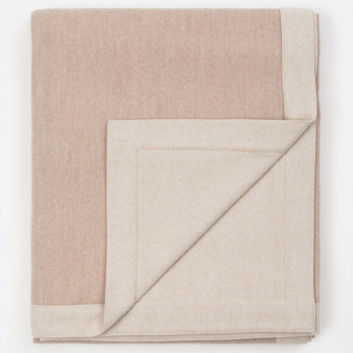 Marzotto Lab Lanerossi Afrodite Superfine Merino Wool Double Face Blanket With Self Hem