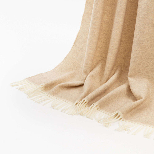 Mazotto Lab Saturno Blend Cashmere Double Face And Herringbone Throw