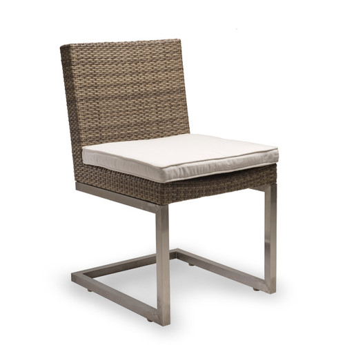 Palms Side Chair With White Cushion
