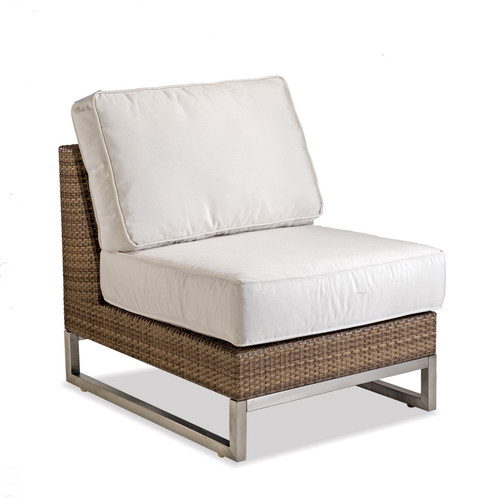 Palms Sectional Armless With White Cushion