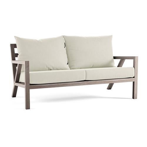 Alyn Sofa With White Cushion (Weathered)