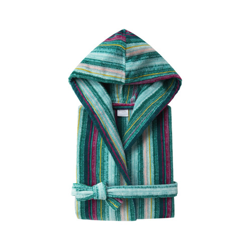 Yves Delorme Women's Fougue Short Hooded Kimono Bathrobe