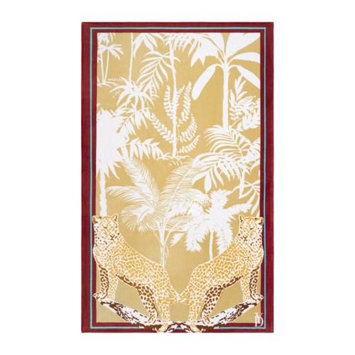 Yves Delorme Feline Printed Veloue Beach Towel
