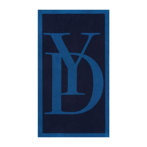 Yves Delorme Griffe Jacquard Marine Beach Towel