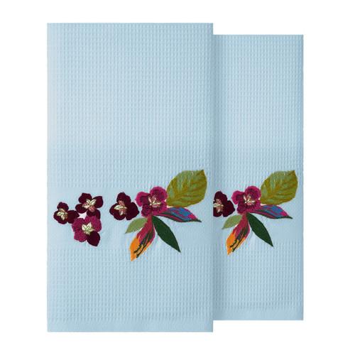 Yves Delorme Utopia 2 Emnorideres Horizon Cotton Fingertip Towels