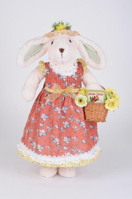 Karen Didion Flower Basket Bunny