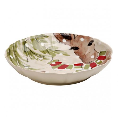 Casafina Deer Friends Shallow Bowl