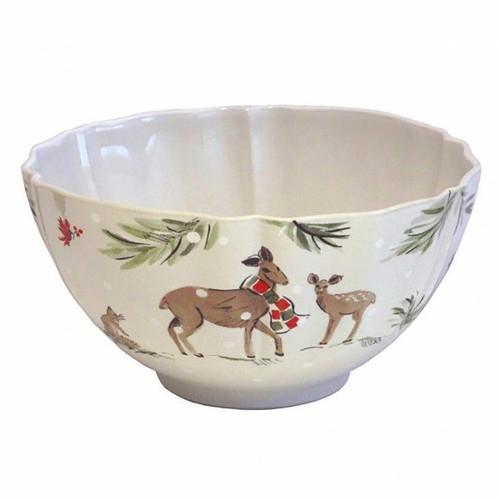 Casafina Deer Friends Large Tall Bowl