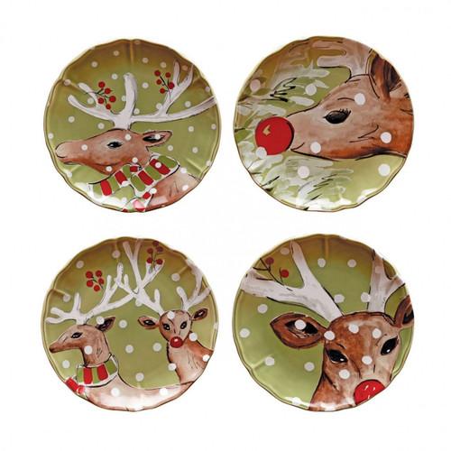 Casafina Deer Friends Salad Plates - Set of 4