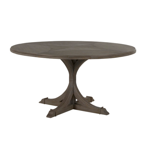 Gracious Home Adams Round Dining Table - Gray