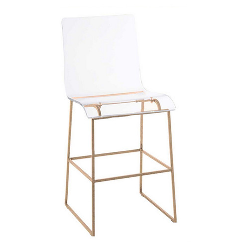 """Gracious Home King 24.75"""" Counter Height Stool - Gold"""
