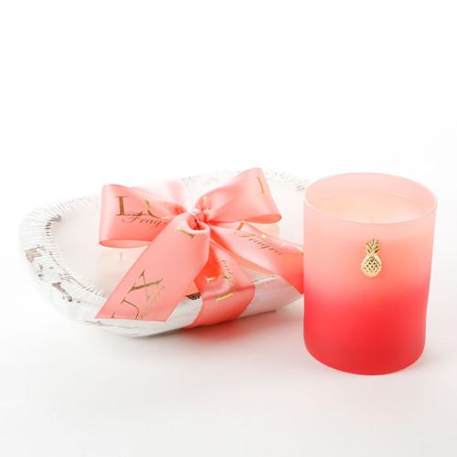 Lux Fragrances Grapefruit White 3 Wick Dough Bowl Candle
