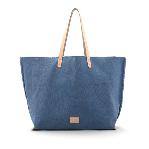 Graf Lantz Hana Boat Bag Cotton Canvas/Vegetable tanned leather trim