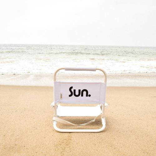 Sunnylife Eco Beach Chair Nouveau Bleu - White