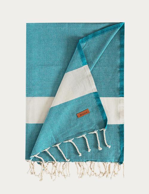 BRICINI AGADIR BEACH TOWEL 35''X72'' PETROL