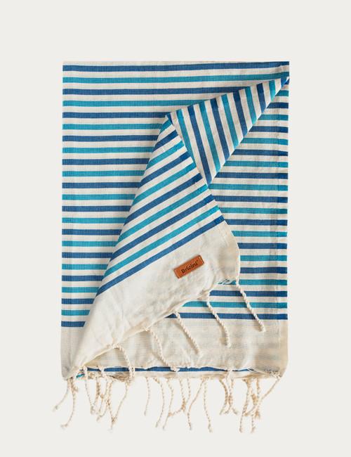 BRICINI AGUDA BEACH TOWEL 35''X72'' BLUE