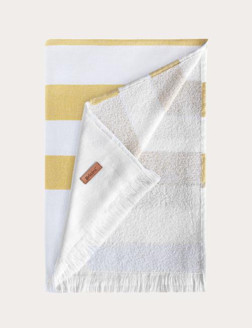 "BRICINI COSTA NOVA BEACH TOWEL 35""X72"" MUSTARD"