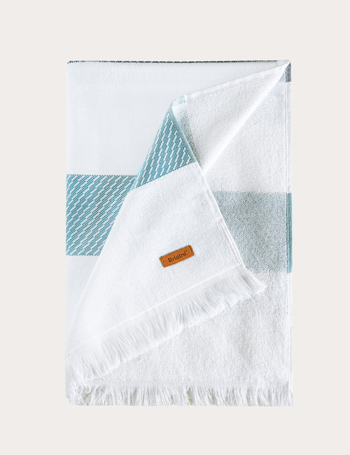 BRICINI CRETE BEACH TOWEL 35''X71'' STORM