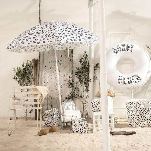 Sunnylife Eco Beach Umbrella Call Of The Wild - White